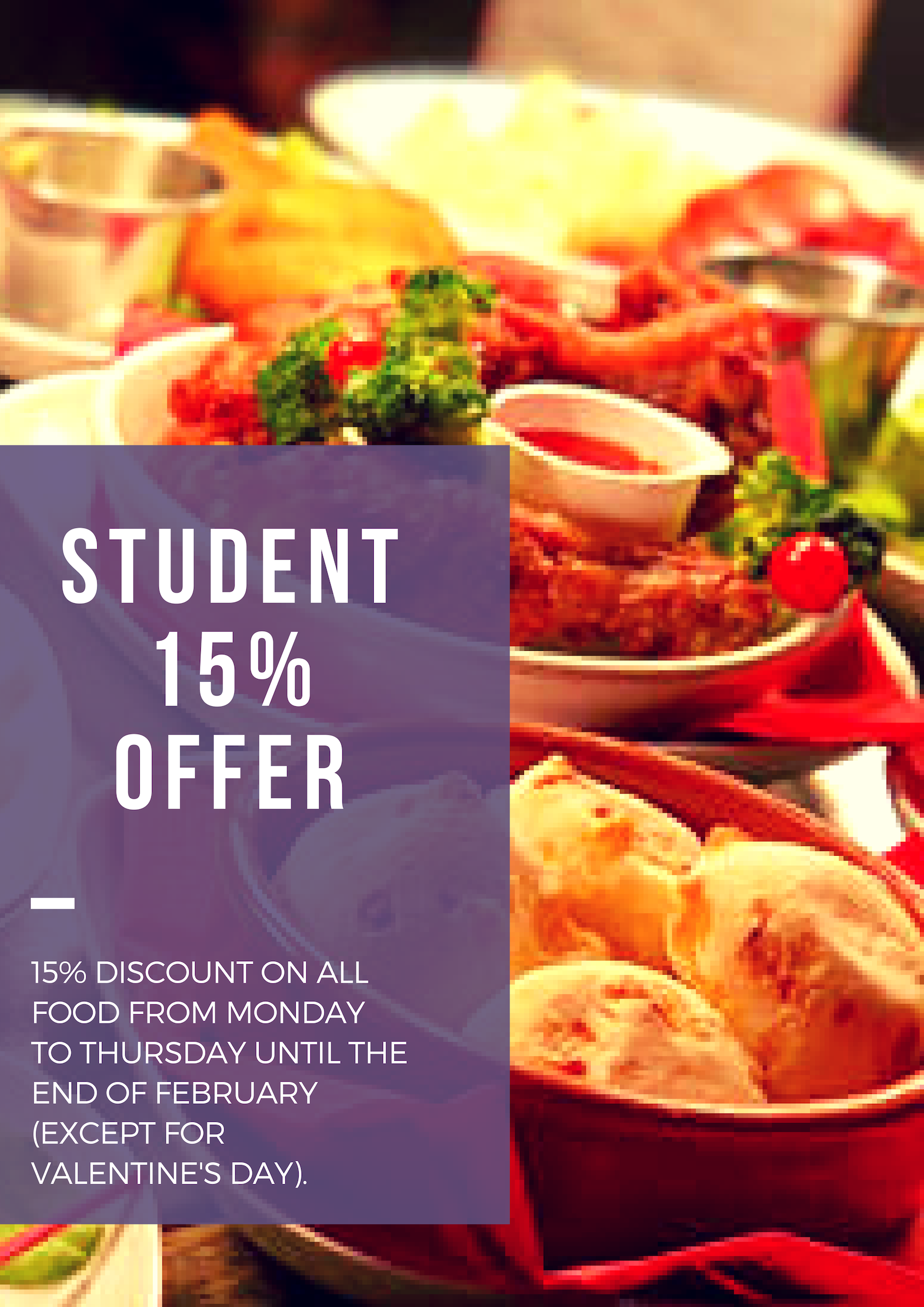 15% student Offer